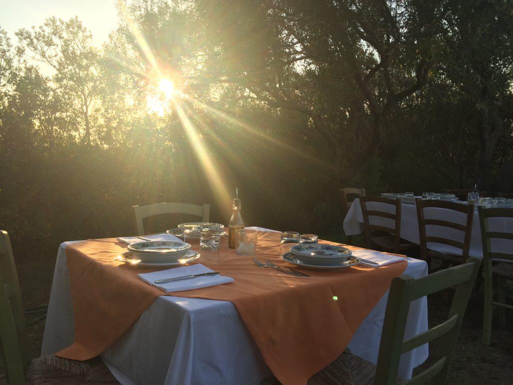 Romantisch Essen Sardinien veronicaszelt