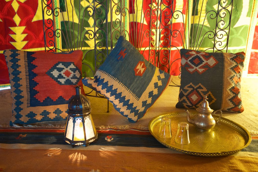 Arabisches Decor glamping